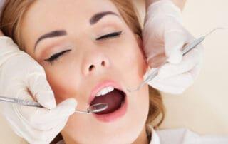 Woman Dental Patient Sedated